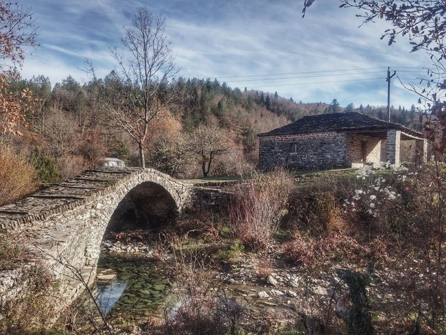 Bridge Sky Cloud - Sky No People Day Outdoors Tree Architecture Nature Water Church Zagori Greece