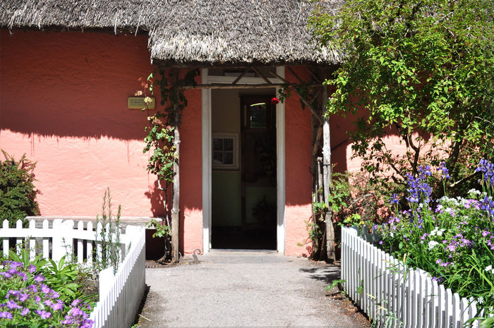 Ireland Architecture Building Exterior Built Structure Cast Shadows Day Front Door Garden Home :) Nature No People Outdoors Plant Thatched Cottage Thatched House Thatched Roof Tree