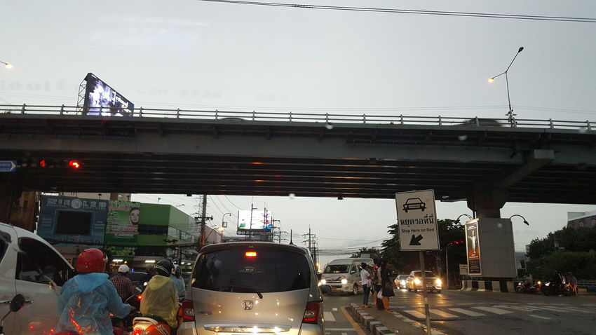 Live alive City Road Bridge - Man Made Structure Land Vehicle Car City Life City Street Street Illuminated Sky Red Light Stoplight Traffic Signal Stop Sign