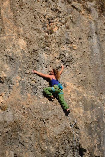 The Great Outdoors - 2017 EyeEm Awards Rock Climbing Climbing Adults Only RISK Full Length Adult Day Rock - Object One Person One Woman Only Adventure Only Women Rock Face Outdoors Young Adult People Sport Nature Extreme Sports Flexibility Geyikbayırı Antalya Turkey Tırmanış
