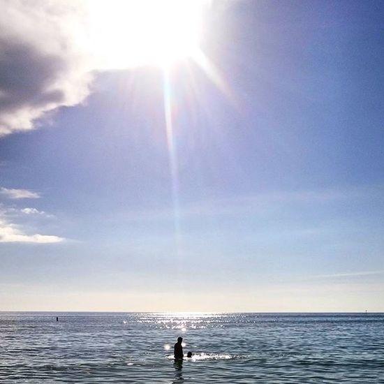 Mesfin and Ethan on Siesta Public beach Fatherandson Siestakey Siestabeach Fla Florida Srq Sarasota