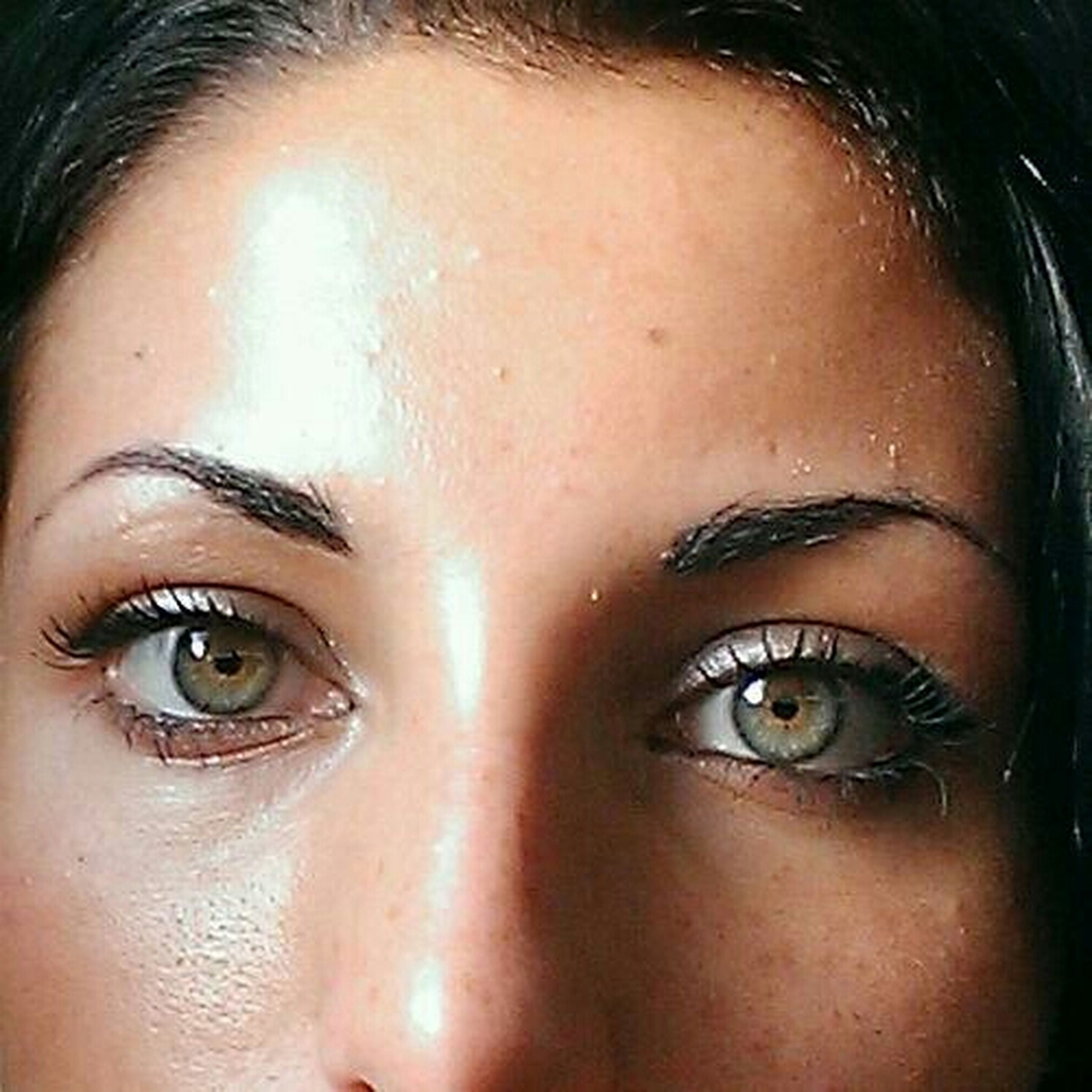 close-up, lifestyles, part of, human eye, human face, person, headshot, leisure activity, human skin, looking at camera, young adult, portrait, indoors, young women, cropped, front view