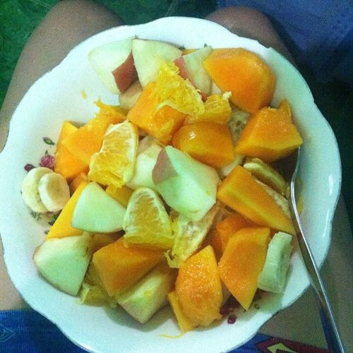 E kasi low blood! Tonight's dinner. Samalamig :)) Gofruity MemaPostLang Dinner Healthyway
