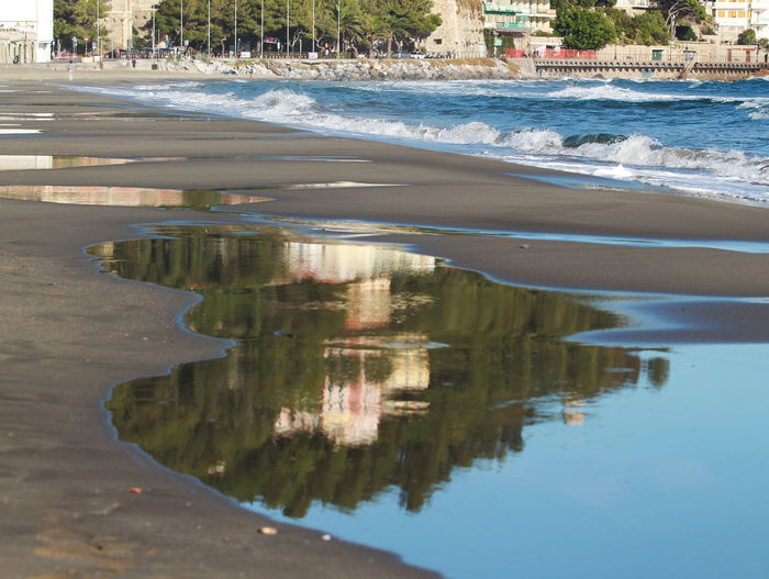 Alassio Alassiobay Alassiobeach Beach Beach Photography Beachphotography Beauty In Nature Blue Day Nature No People Outdoors Reflection Reflection Reflections Reflections In The Water Sea Seascape Seaside Water