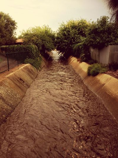 Muddy Waters after a storm all this Water is coming from Clipsal500 in Adelaide, South Australia