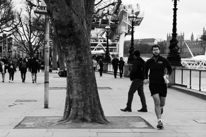 Adult Adults Only Architecture City Day Full Length Jogging Leisure Activity Lifestyles Men Only Men Outdoors People Real People Run South Bank Street Street Photography Streetphoto_bw Streetphotography Togetherness Tourist Tree Two People Young Adult