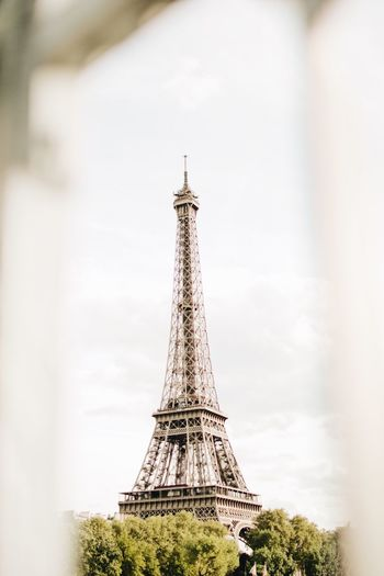 Paris Built Structure Tall - High Tower Architecture Sky No People Day Travel Destinations Low Angle View History The Past Spire  Tree Nature Travel Building Exterior Tourism Outdoors Plant City