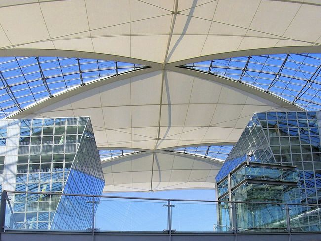 In The Terminal Roof Glass Metal Construction Munich Bavaria Germany EyeEm Best Shots Light And Shadow