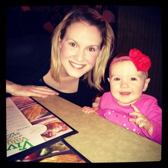 Out for dinner for valentine's day with NY two valentines