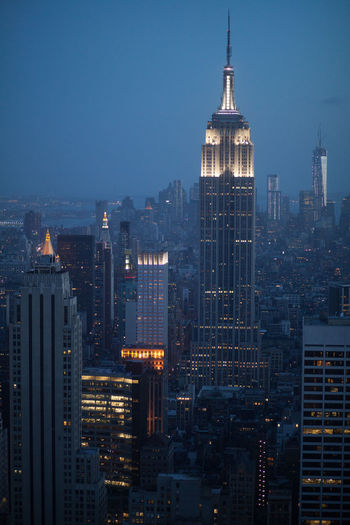 View Of Cityscape With Empire State Building At Night