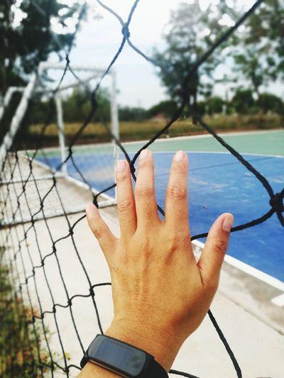 net Net - Sports Equipment Footsal Football Human Hand Nautical Vessel Men Sky Close-up