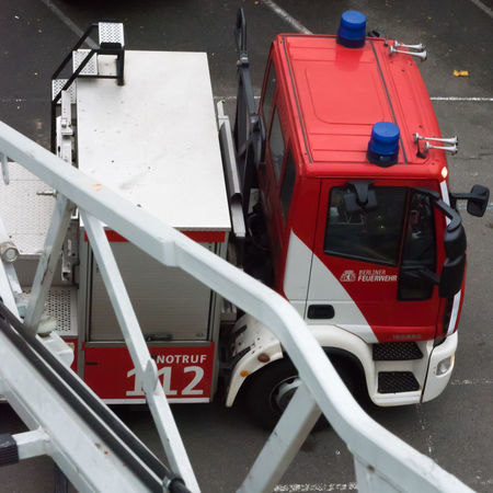 112 Emergency FireFighting  Firefighter Firefighter Truck Ladder Red Aerial Ladder Basket Blue Blue Light Day Fire Fire Engine Firebrigade Firefighter Equipment Firefighters Firefighters In Action Go-west-photography.com Land Vehicle Mode Of Transport No People Outdoors Red Text Transportation Turntable Ladder