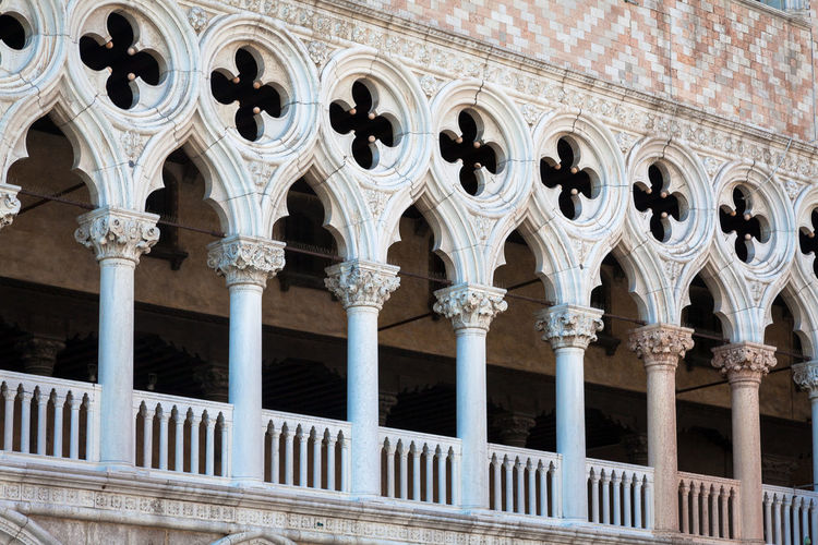 Exterior of doge palace at piazza san marco in city