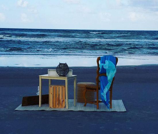 On the beach Ocean View Beach St Augustine, FL Working Outdoor Office Oceanside