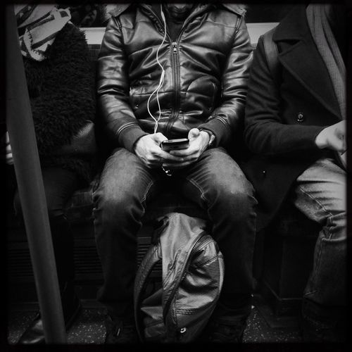 Sitting Real People Day tube Indoors