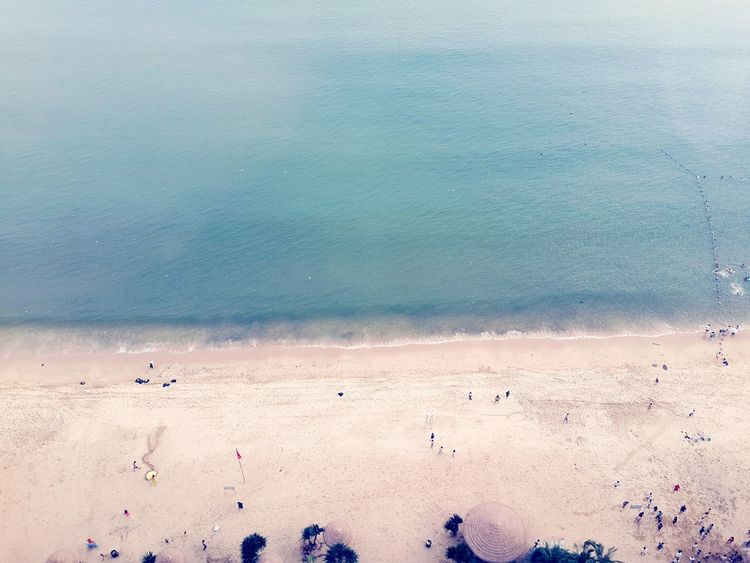 Peoples China Guangzhou Choryee Beach Sea Sky And Sea