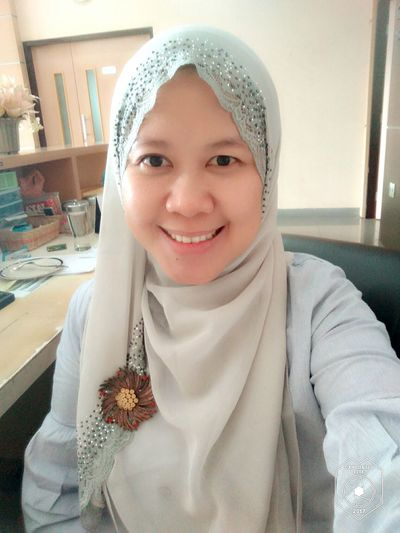 EyeEm Selects , smile, women, hijab, muslimah, office, me, grey, morning Quite, Peace, Looking At Camera Human Eye Adult Smiling Taking Photos INDONESIA Mature Adult Cheese! Jakarta Front View