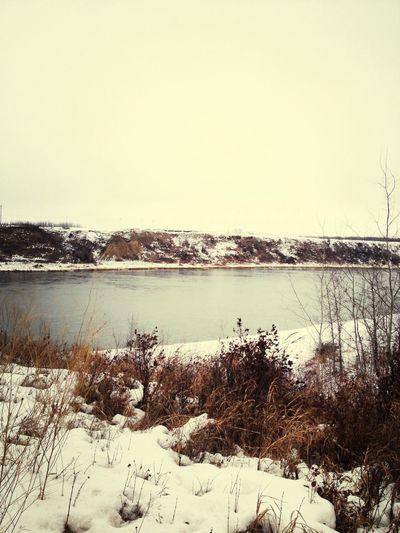 I love the scenery :D Winter River Landscape Nature