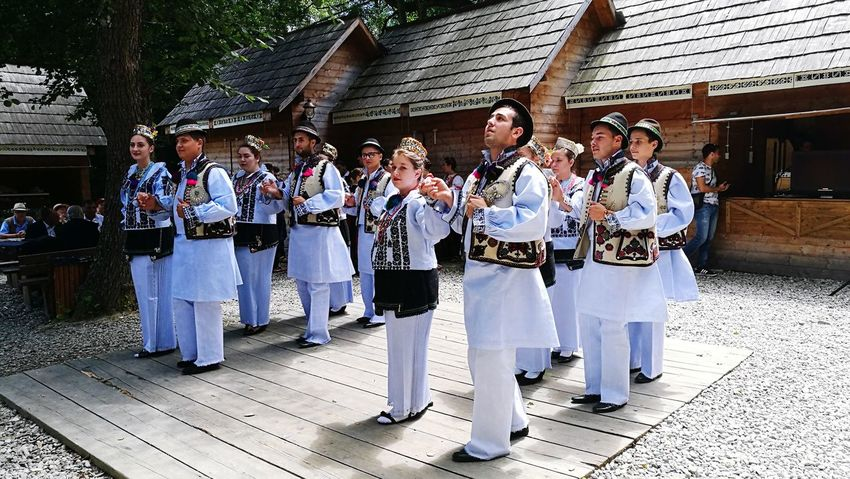 Romanian traditional dance ☺ Large Group Of People Tradition Cultures People Togetherness Community Outdoors Teamwork Young Adult Goodday Romanian Tradition Traditional Dance Traditional Clothing