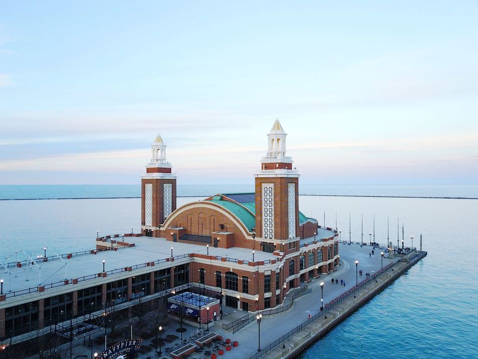 Water Lake Michigan Sky Sea Dronephotography Drone  Aerial View Navy Pier Chicago