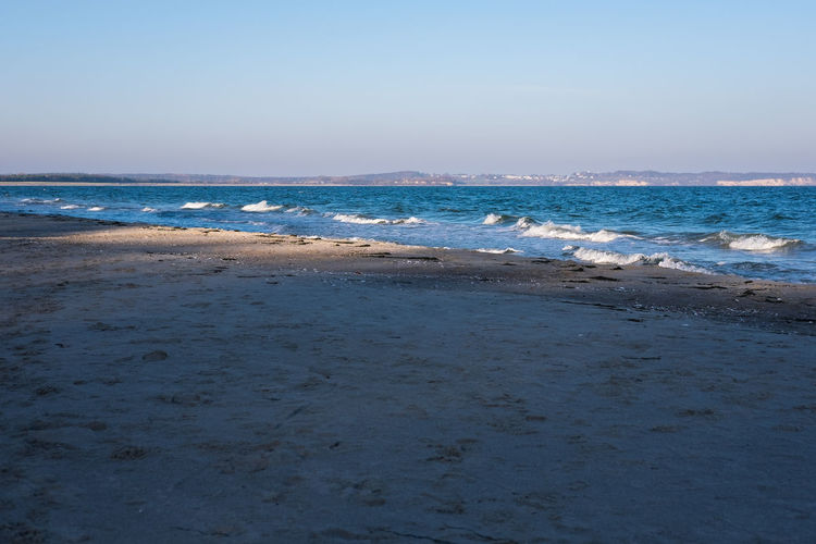 Sea Beach Water Land Sky Horizon Motion Horizon Over Water Scenics - Nature Wave Sand Nature Beauty In Nature Aquatic Sport Sport Tranquility Surfing Day Outdoors