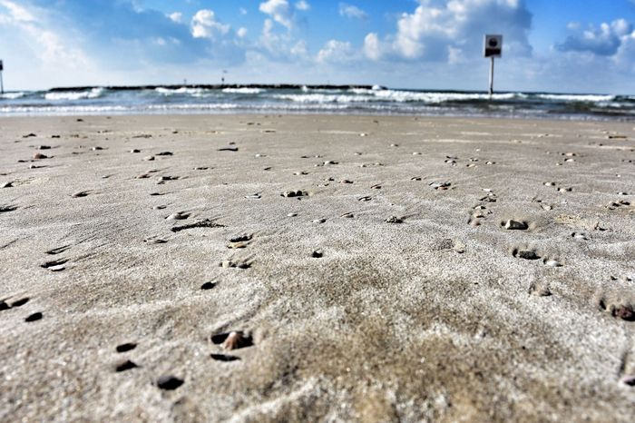 Sea Beach Sand Seashell Landscape Orizon Blue Sky Cloud - Sky Cloud