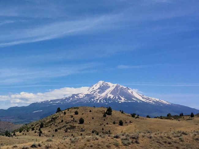 Mt. Shasta South Bound On I-5 Road Trip Hello World