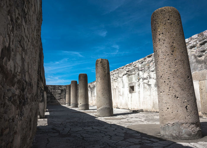 Ancestral Ancient Archeological Complex Archeology Architecture Blue Built Structure Day History Mexico No People Oaxaca Outdoors Precolombian Ruins Ruins Architecture Sky Spiritual Sunlight The Past The Way Forward Travel Travel Destinations Travel Photography Zapoteca Neighborhood Map