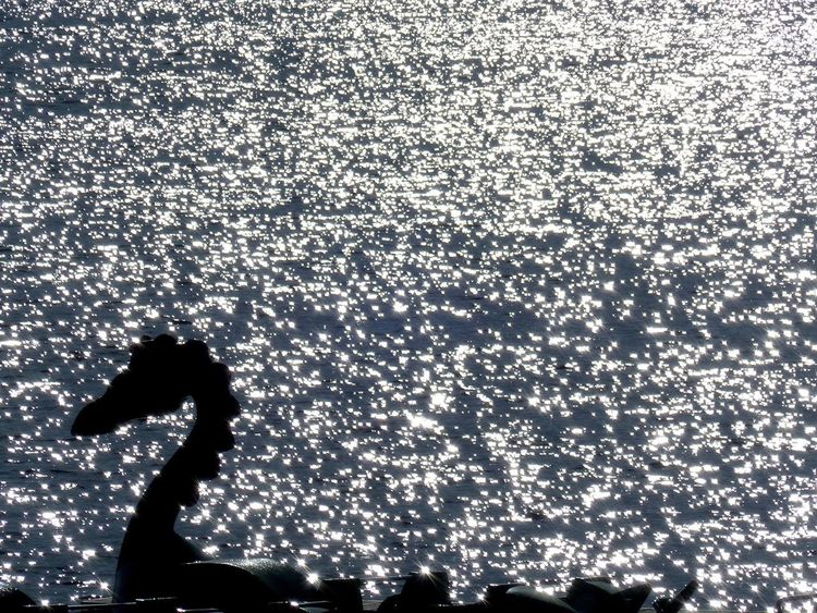 Water Silhouette Sea Swimming Leisure Activity Outdoors Contrast Mystery Mystical Atmosphere Black And White Be. Ready.