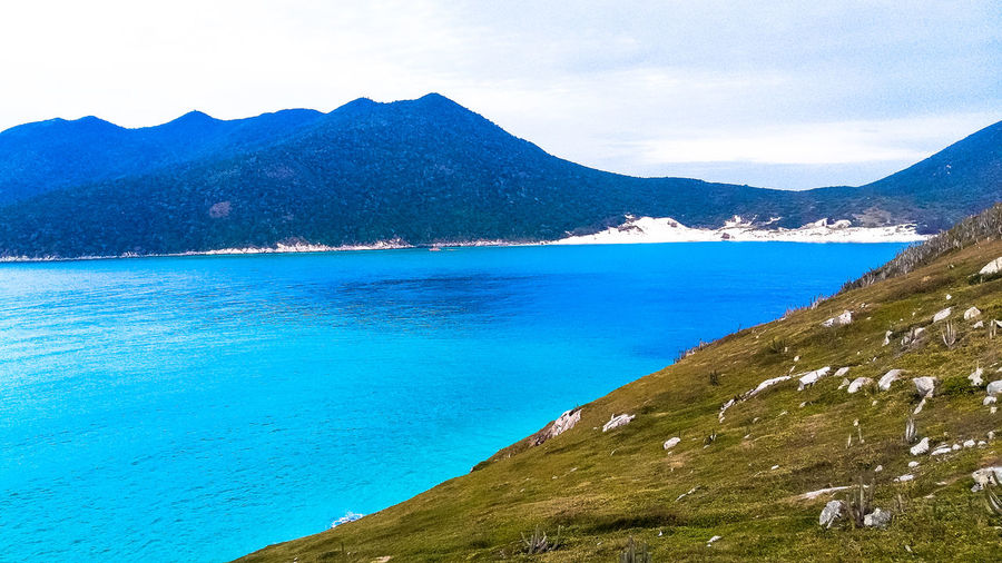 Arraial Do Cabo Brazil Beauty In Nature Mountains Nature Nature Tracks Outdoors Pure Nature Rio De Janeiro Brazil<3 Scenics Sea Sky