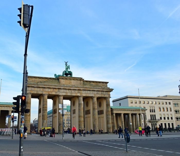 Architecture Bradenburgertor Built Structure City City Gate Day Large Group Of People Outdoors People Statue Tourism Tourist Travel Destinations Discover Berlin