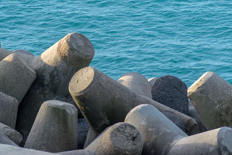 Pebbles in sea