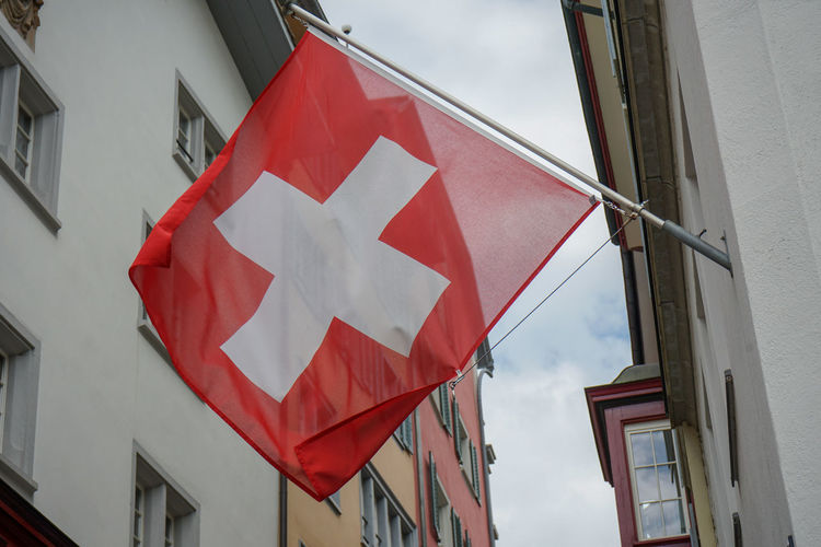 swiss flag on