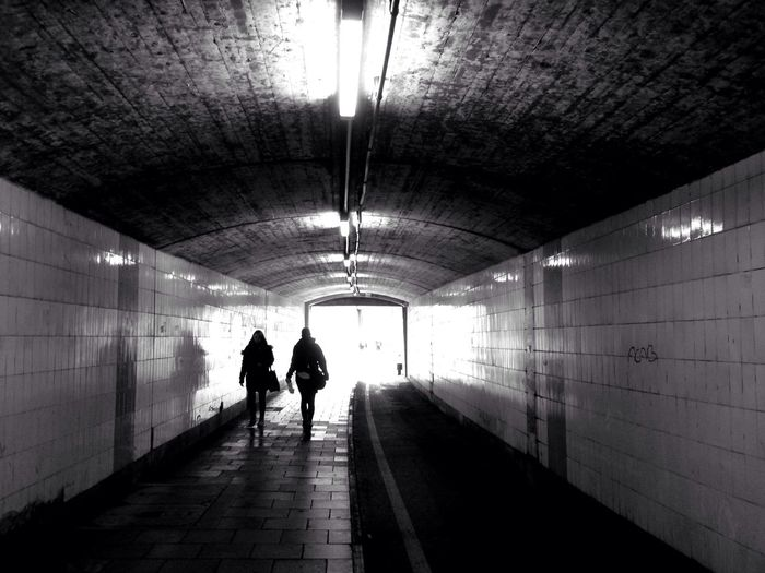 Street Photography Tunnel Black And White The Purist (no Edit, No Filter)