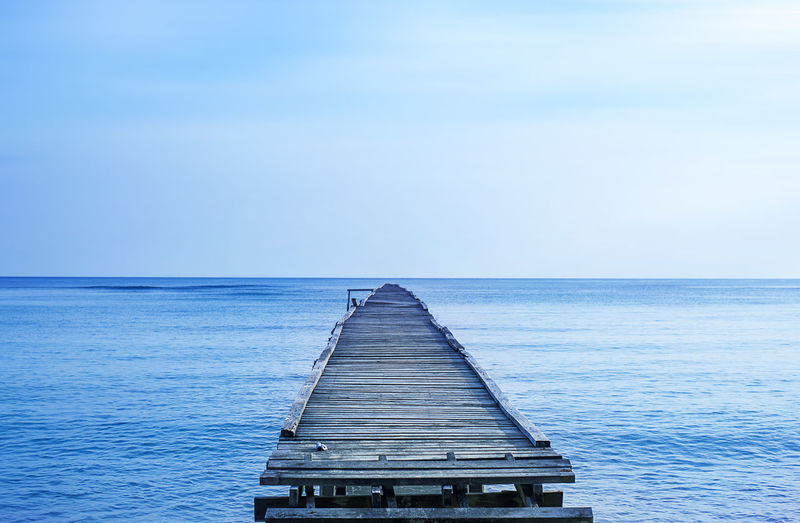 Nature Background_seascape Water Horizon Over Water Horizon Sea Sky Scenics - Nature Beauty In Nature Tranquil Scene Blue Tranquility Nature No People Pier Idyllic Direction Day The Way Forward Wood - Material Seascape Outdoors Long Turquoise Colored