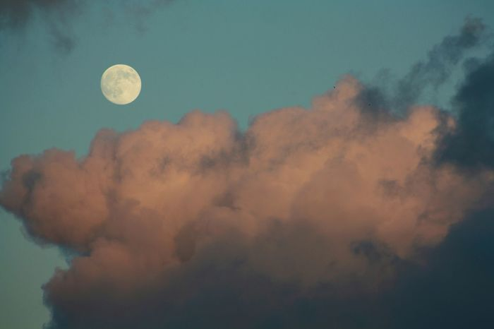 Sky Skycolours Moonrise Daylight Colourful Clouds