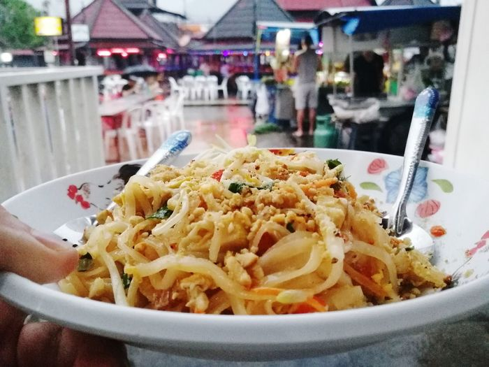 Padthai Pad Thai Wok Food Market Traditional HuaweiP9 P9 Huawei PhonePhotography POV Plate Incidental People Close-up Food And Drink Noodles Prepared Food Served Serving Dish People In The Background