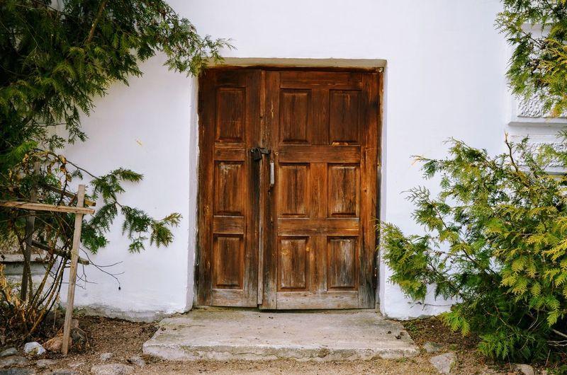 Fairy-tale door Architecture Belarus Door Front Door House No People Tree Vitebsk