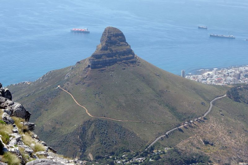 Day Lions Head Mountain Nautical Vessel No People Outdoors Sea Sky Table Mountain Travel Destinations Water