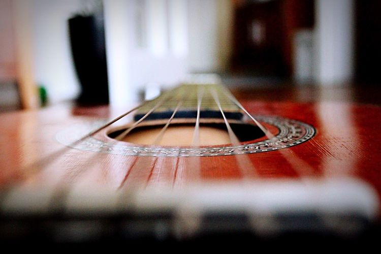 Guitar Musical Instrument Music Accoustick Accoustic Guitar Accoustic Spanish Guitar Close-up String Instrument Strings