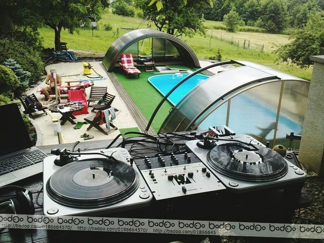 Party Turntables Swimming Pool Relaxing Summertime Letsdothis