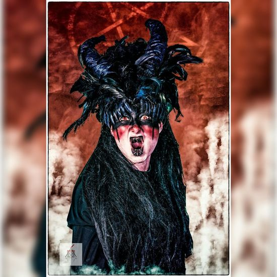 Horror Fantasy Spooky Evil Halloween Monster - Fictional Character Vampire Stage Make-up One Person Portrait Witch Women