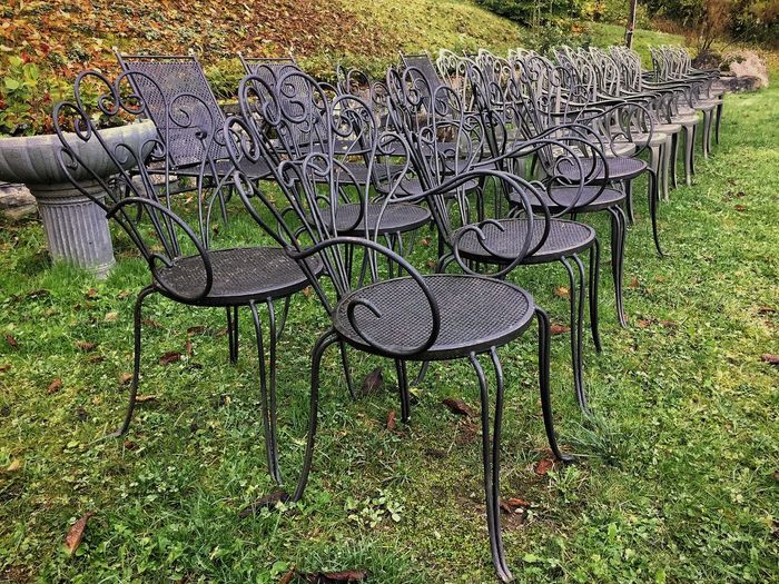 Empty Chairs Structure Iphone6 Mobilephotography
