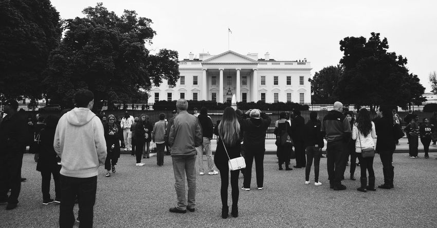 White House Washington, D. C. Government Building People And Places Travel Destinations People Photographing People Black And White Photography People Photography Black And White Collection! Best Eyeem Pics President'shouse Famous Building Famous Place Famous Architecture USA Photos The Photojournalist - 2017 EyeEm Awards