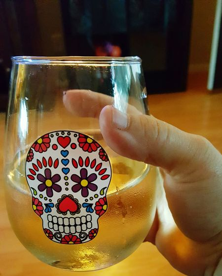 Sugarskull Wine Light And Shadow Light