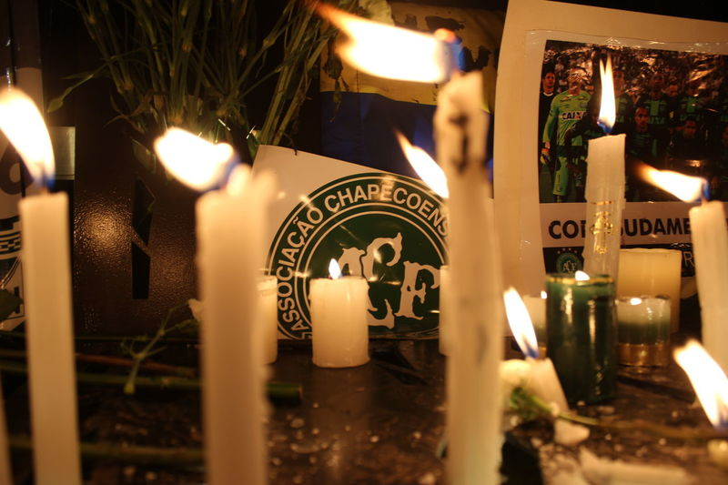 Candle Chapecoense Close-up Flame Illuminated Night No People Outdoors Soccer Text Tribute