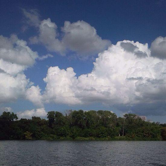 Cloudy day at White Rock Lake. White Rock Lake Texas Dallas Clouds