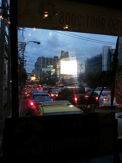 Cityscapes Trafficjam Evening On The Way Home