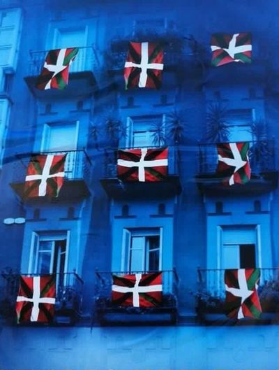 Basque Country Flags In The Wind  Flags Eyemgallery Happy Sunday EyeEm Best Shots BasqueCountry Bilbao North Of Spain Colours Edit Photo Arquitecture