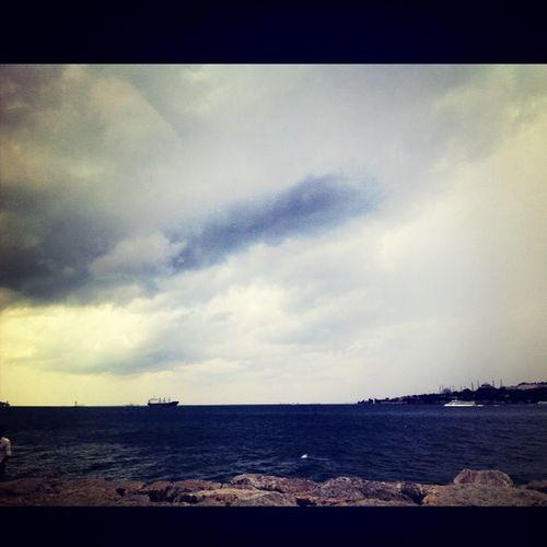 Cloudy Üsküdar/ Salacak Sea Fall